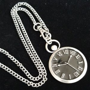 Steampunk Watchface Necklace & Earring Set NWT